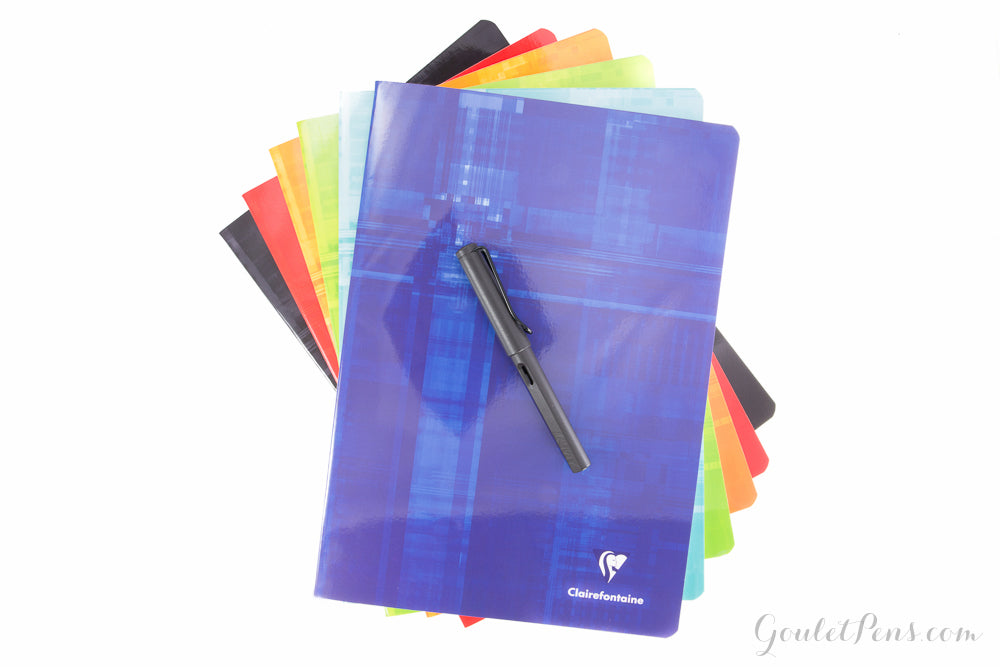"""Clairefontaine Staplebound Notebook  8/"""" X 11/"""" French Ruled Purple"""