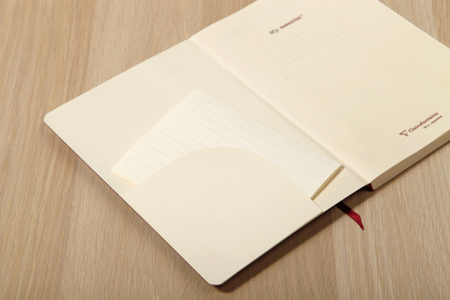 Clairefontaine Basic My Essential A5 Notebook - Tan, Dot Grid