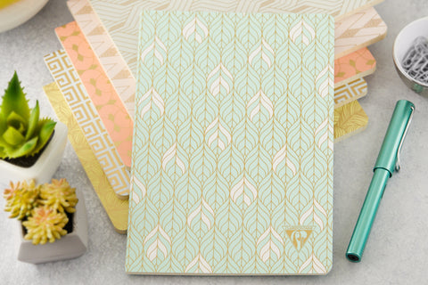 Clairefontaine Neo Deco A5 Notebook - Liane, Lined