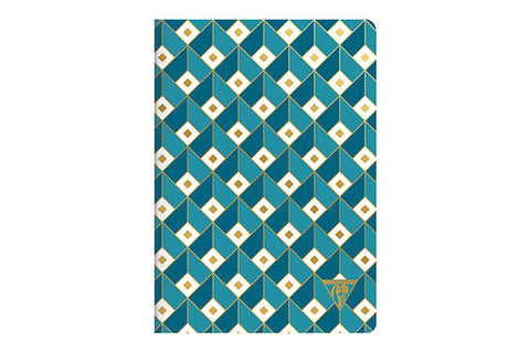 Clairefontaine Neo Deco A5 Notebook - Cubes, Lined