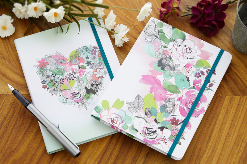 Clairefontaine Blooming Hardcover A5 Notebook - Lined