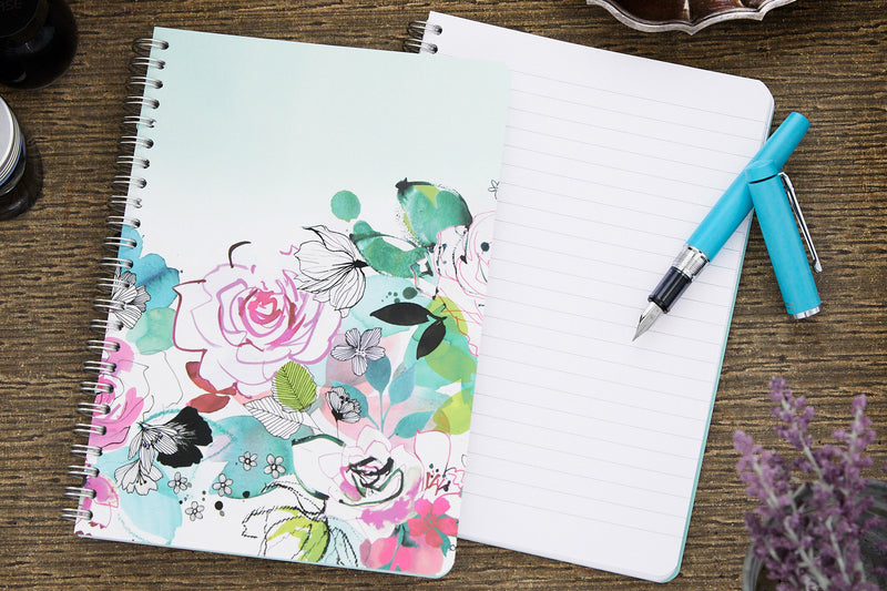 Clairefontaine Blooming Wirebound A5 Notebook - Lined