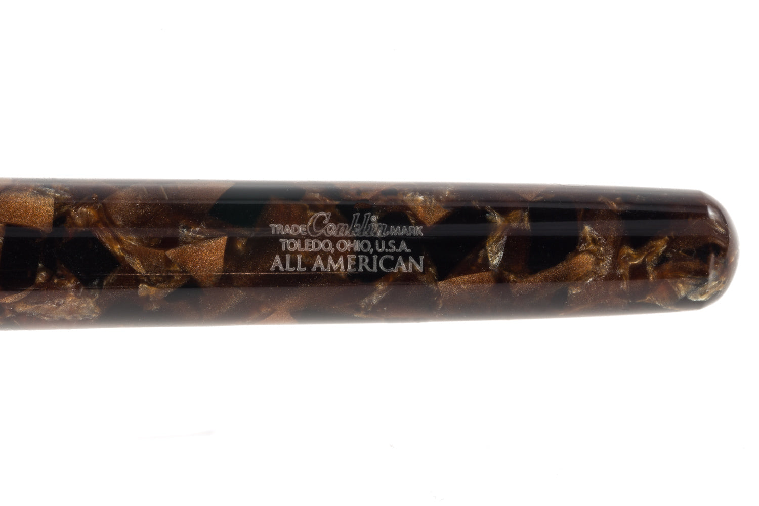 Conklin All American Fountain Pen - Brownstone