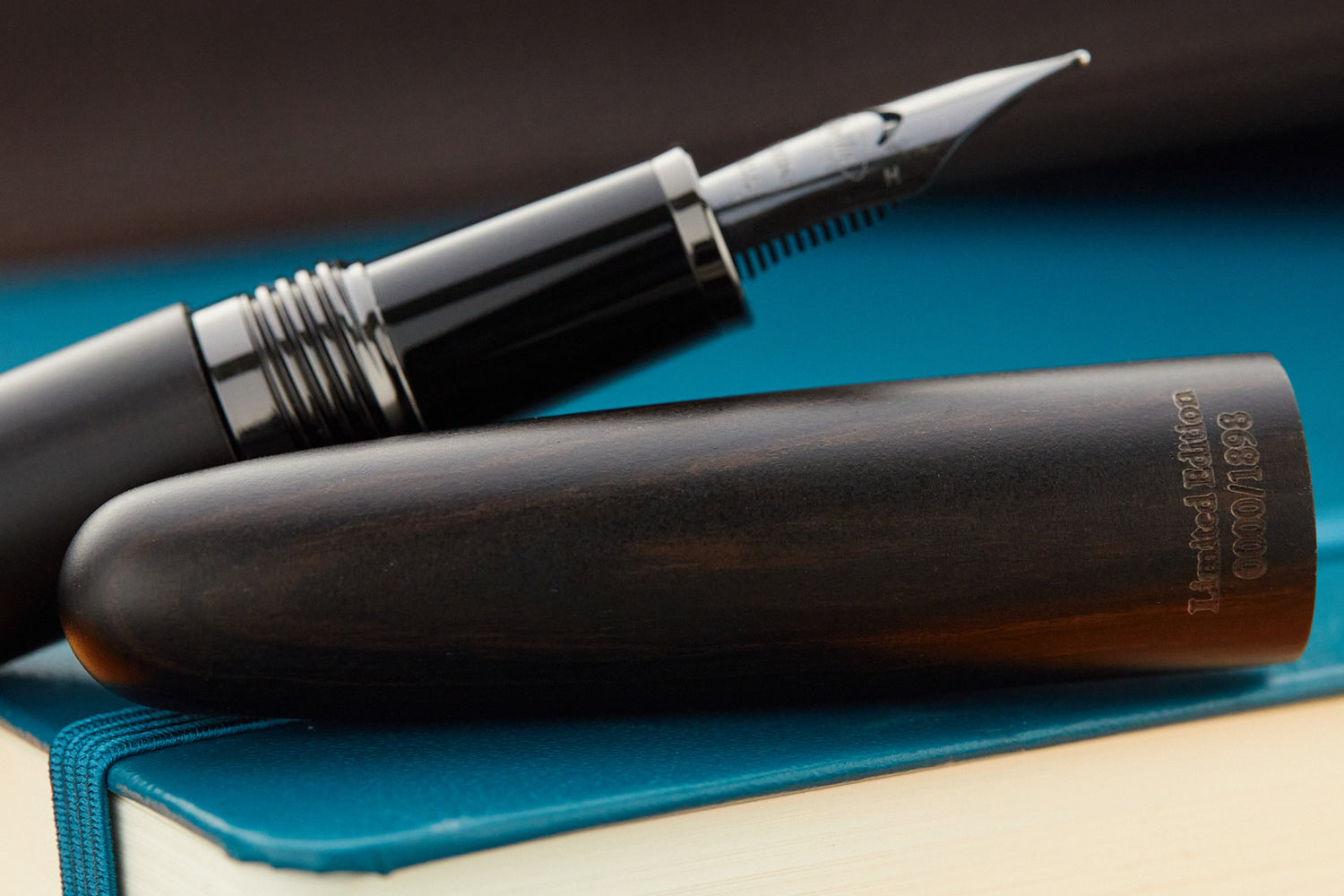 Conklin All American Fountain Pen - Ebony Wood/Gunmetal (Limited Edition)