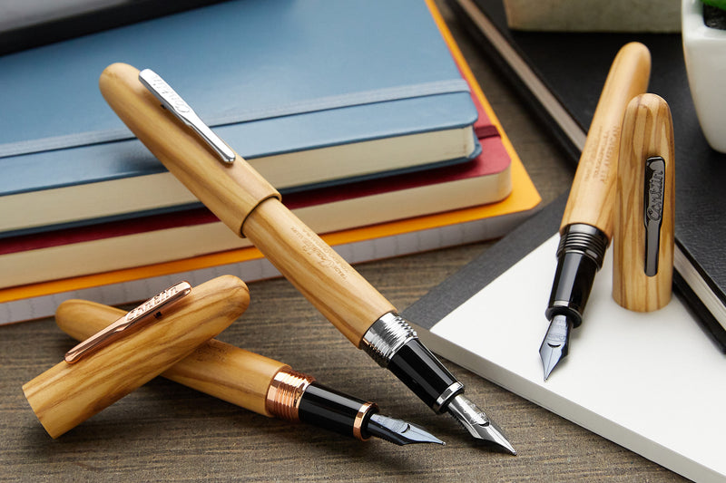 Conklin All American Fountain Pen - Olivewood/Chrome (Limited Edition)