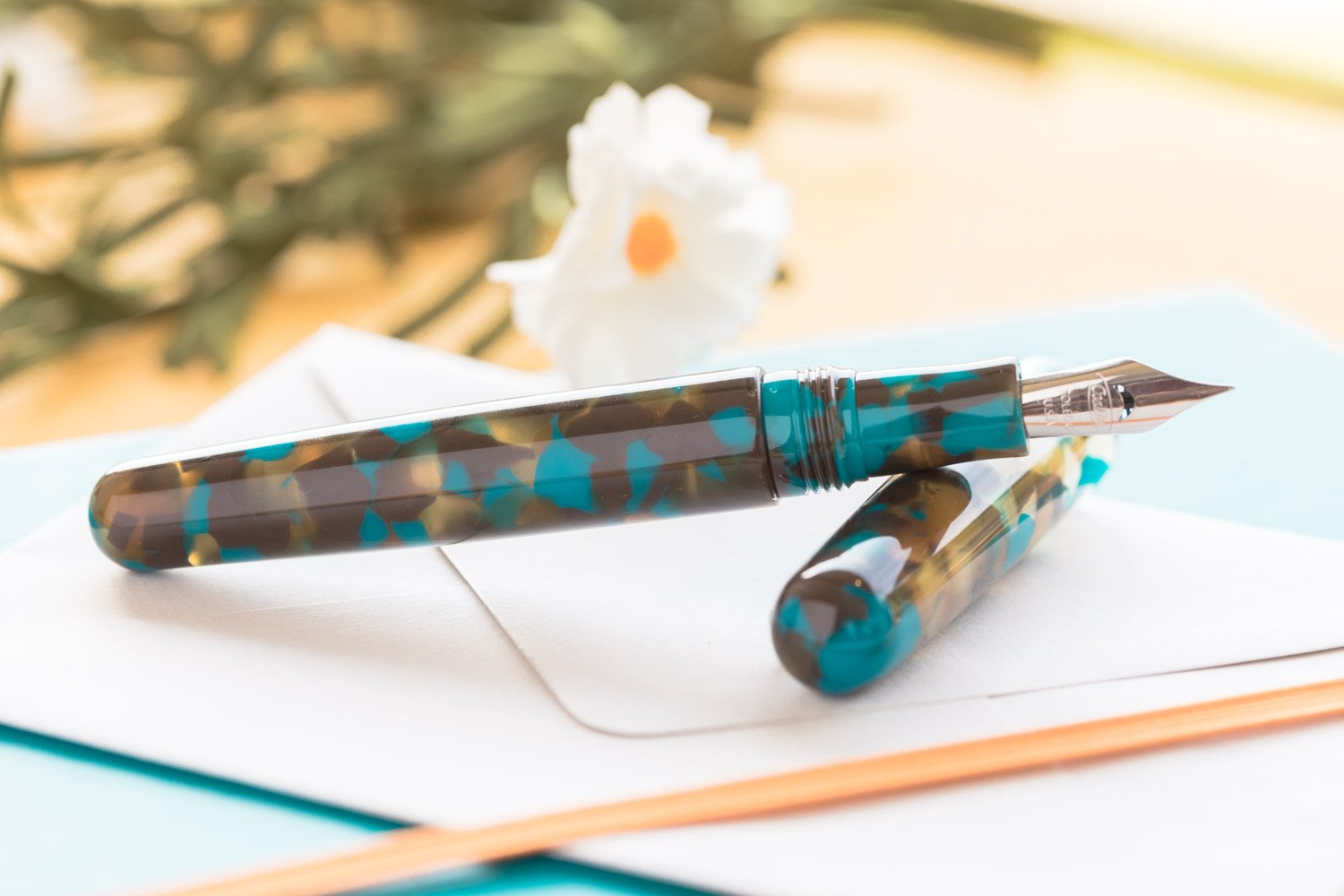Conklin All American Fountain Pen - Southwest Turquoise