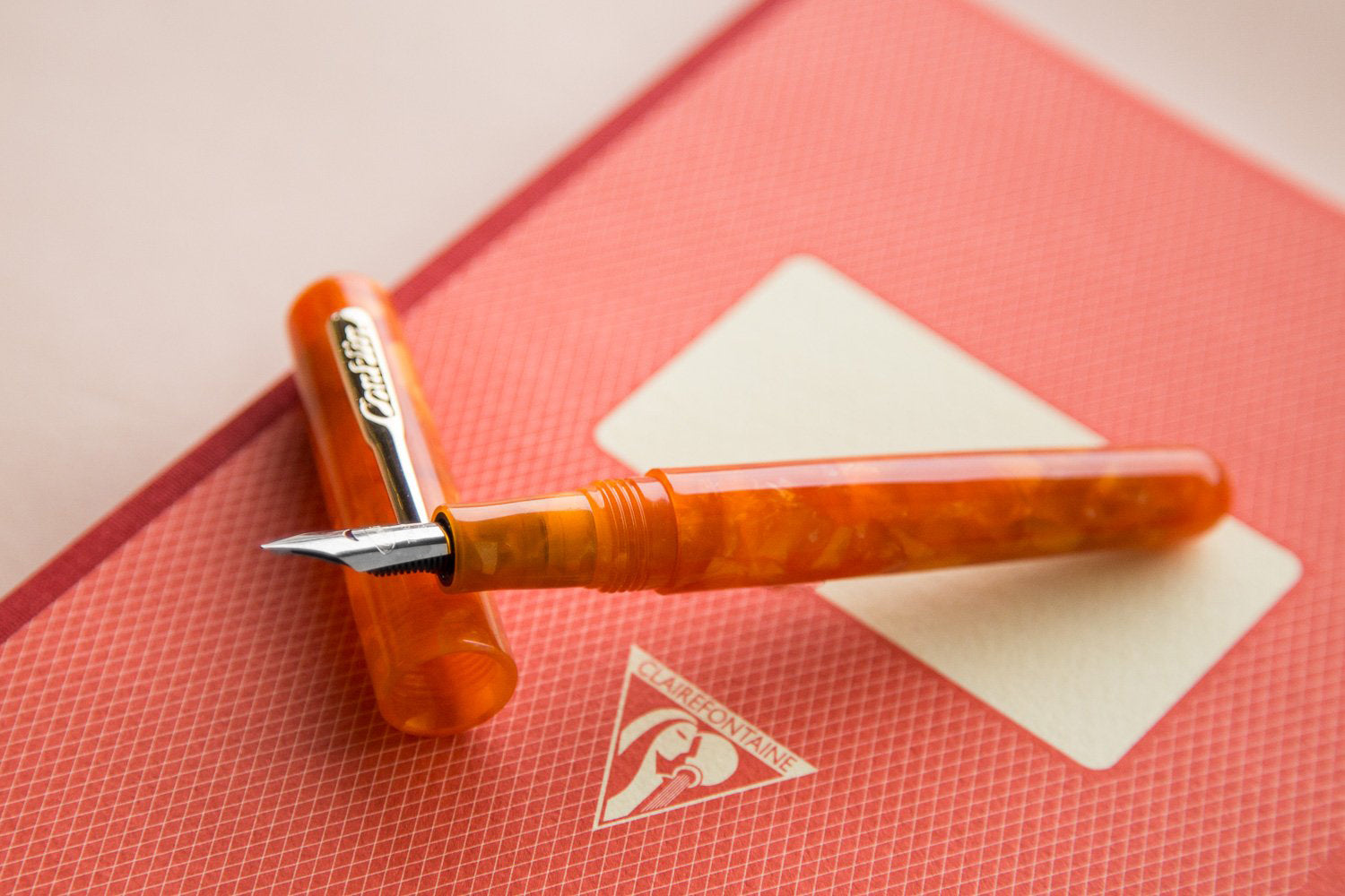 Conklin All American Fountain Pen - Sunburst Orange