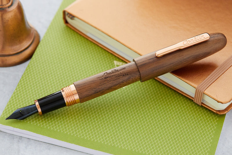 Conklin All American Fountain Pen - Golden Walnut/Rose Gold (Limited Edition)