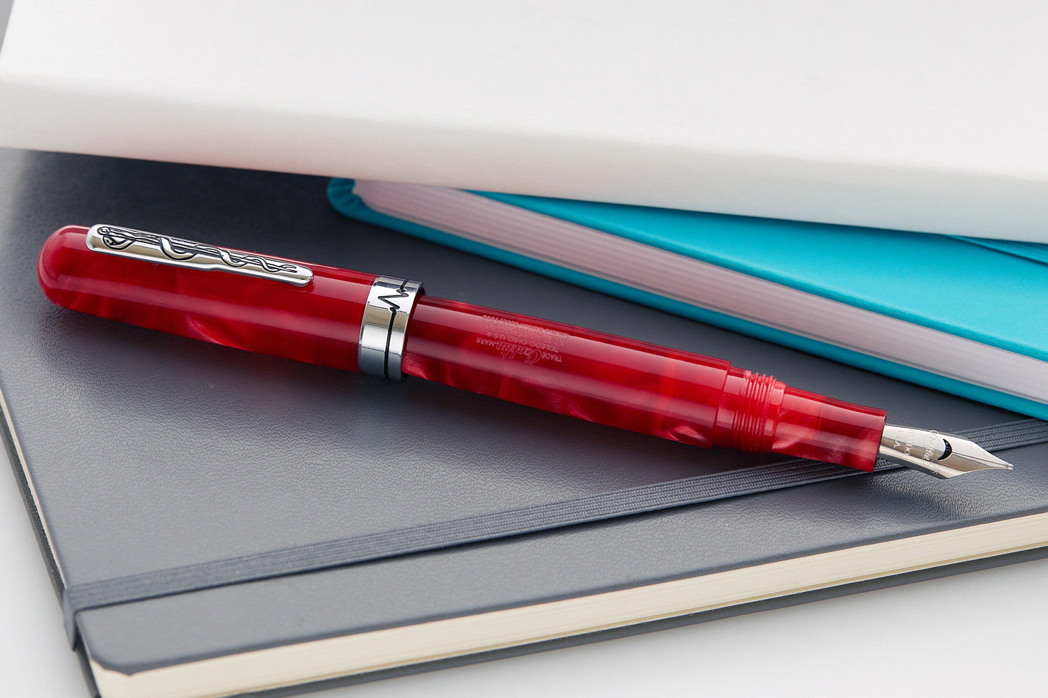 Conklin All American Courage Fountain Pen - Red (Limited Edition)
