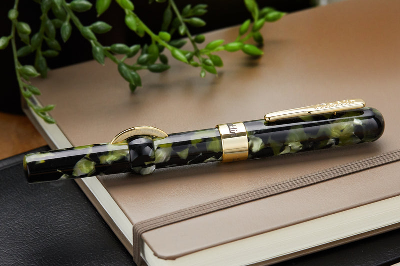 Conklin Mark Twain Crescent Filler Fountain Pen - Vintage Green