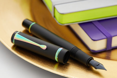 Conklin Duragraph Fountain Pen - Matte Black/Rainbow (Limited Edition)