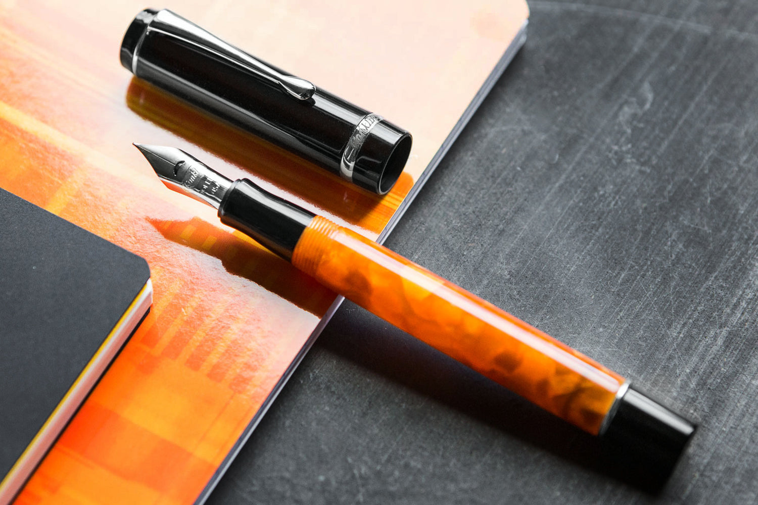 Conklin Duragraph Fountain Pen - Orange Nights