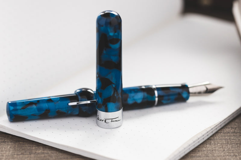 Conklin Mark Twain Crescent Filler Fountain Pen - Vintage Blue