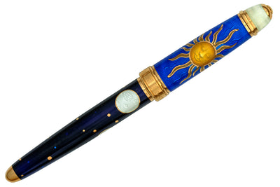 David Oscarson Celestial Fountain Pen - Sapphire Blue/Midnight Blue/Gold
