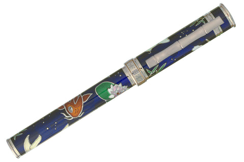 David Oscarson Koi Fountain Pen - Sapphire Blue/Silver