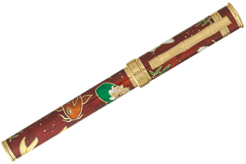 David Oscarson Koi Fountain Pen - Ruby Red