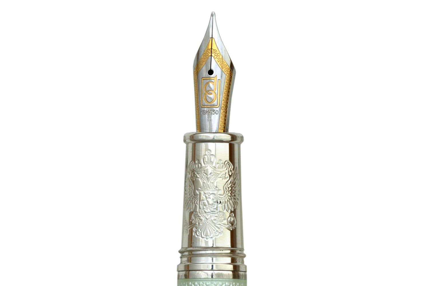 David Oscarson Russian Imperial Fountain Pen - White/Silver