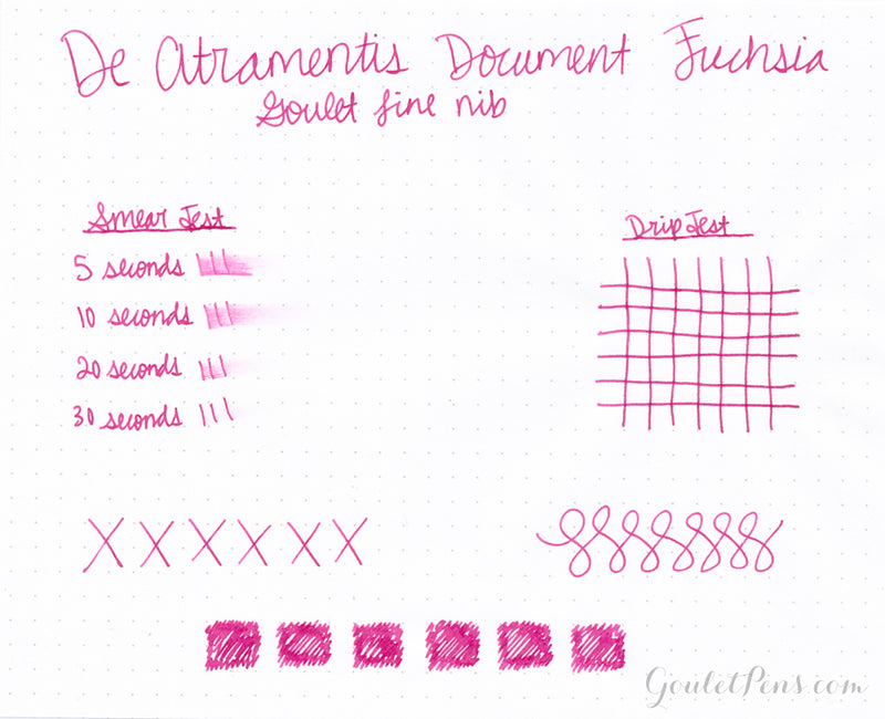 De Atramentis Document Ink - Fuchsia - 35ml Bottled Ink