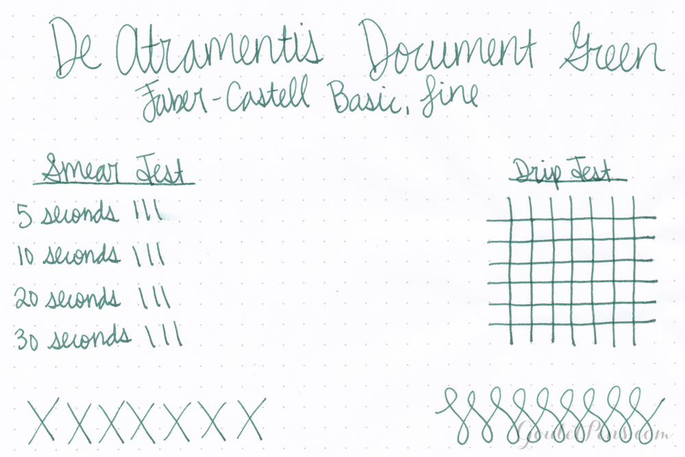 De Atramentis Document Ink Dark Green - 45ml Bottled Ink
