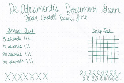 De Atramentis Document Ink - Green - 35ml Bottled Ink