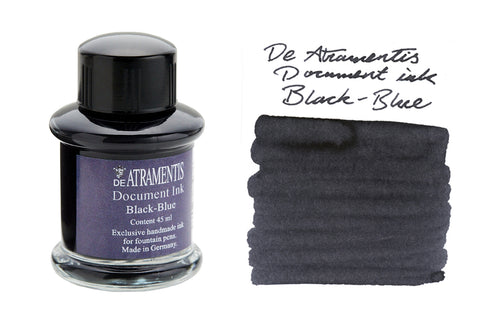De Atramentis Document Ink Black Blue - 45ml Bottled Ink