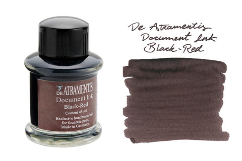 De Atramentis Document Ink Black Red - 45ml Bottled Ink