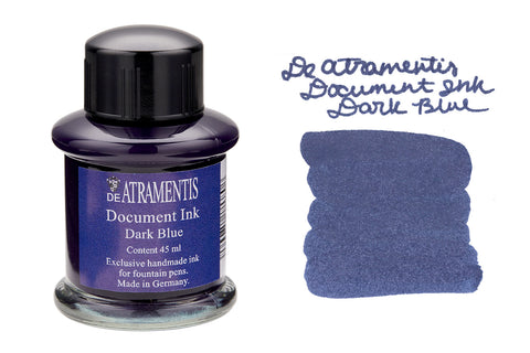 De Atramentis Document Ink Dark Blue - 35ml Bottled Ink