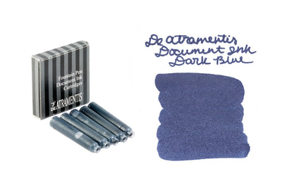 De Atramentis Document Ink Dark Blue - Ink Cartridges