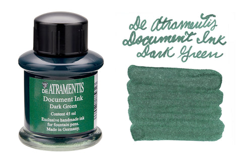 De Atramentis Document Ink Dark Green - 35ml Bottled Ink