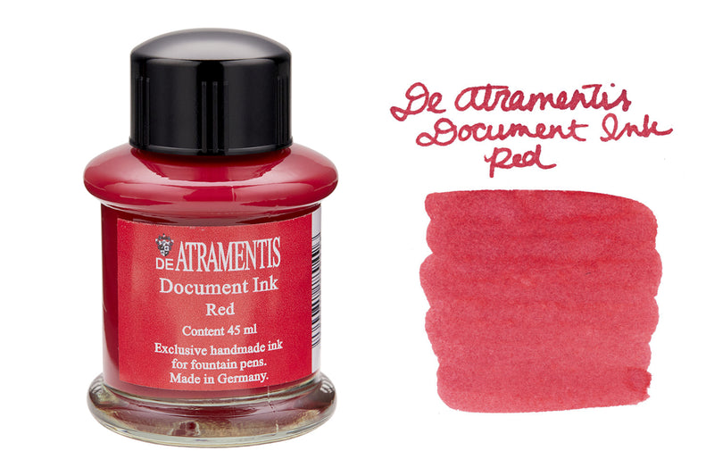 De Atramentis Document Ink Red - 35ml Bottled Ink