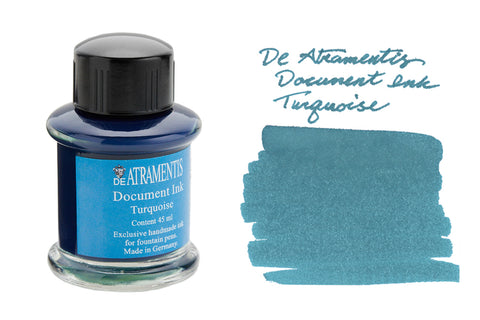 De Atramentis Document Ink Turquoise - 35ml Bottled Ink
