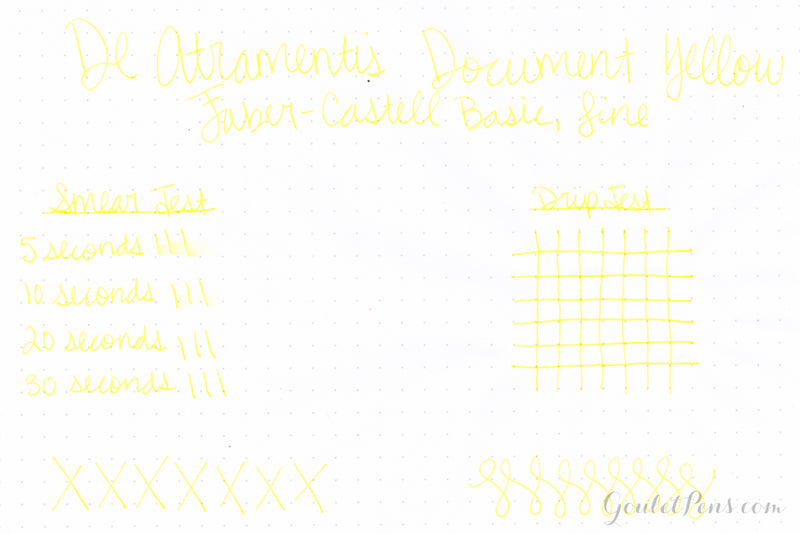 De Atramentis Document Ink Yellow - 45ml Bottled Ink