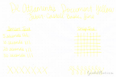 De Atramentis Document Ink - Yellow - Ink Sample