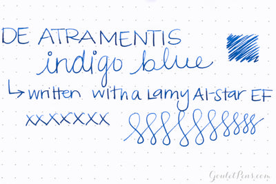 De Atramentis Indigo Blue - 35ml Bottled Ink