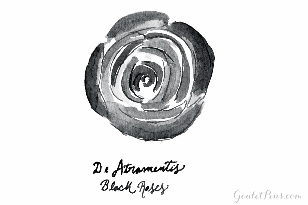 De Atramentis Black Roses - 45ml Scented Bottled Ink