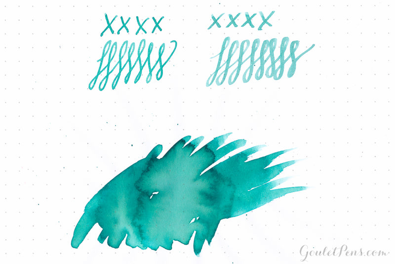 De Atramentis Mint Turquoise - Ink Sample