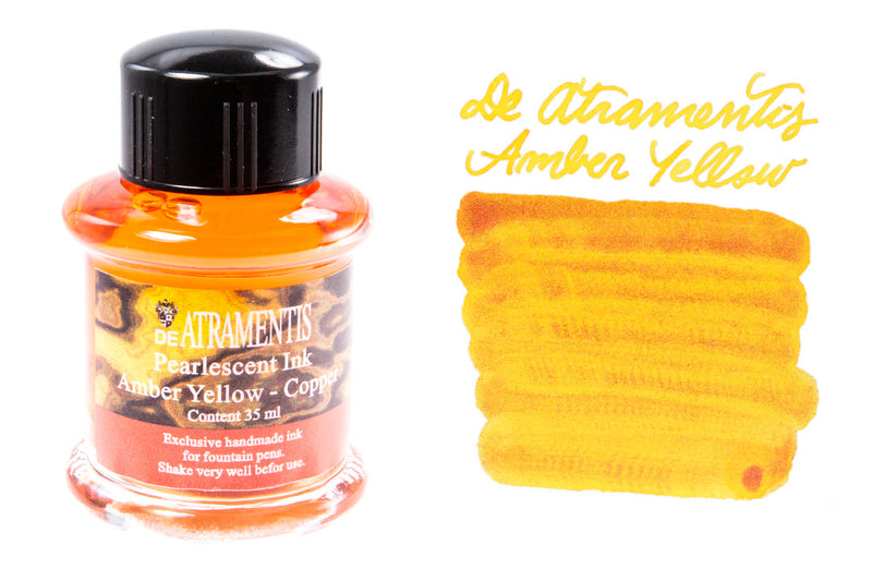 De Atramentis Pearlescent Amber Yellow-Copper - 35ml Bottled Ink