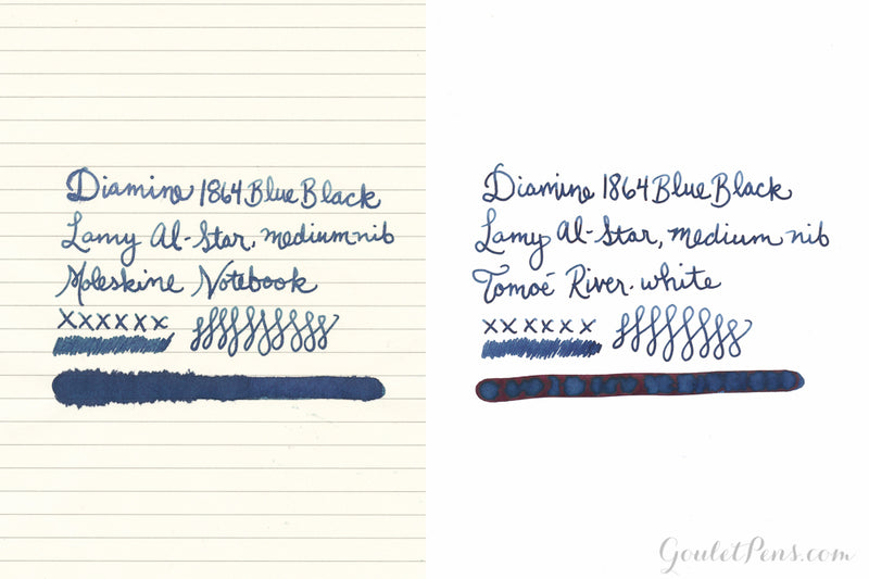 Diamine 1864 Blue Black - Ink Sample