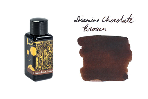 Diamine Chocolate Brown - 30ml Bottled Ink