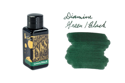 Diamine Green/Black - 30ml Bottled Ink