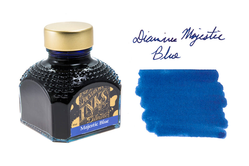 Diamine Majestic Blue - 80ml Bottled Ink