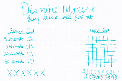 Diamine Marine - Ink Sample