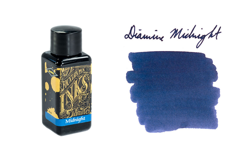 Diamine Midnight - 30ml Bottled Ink