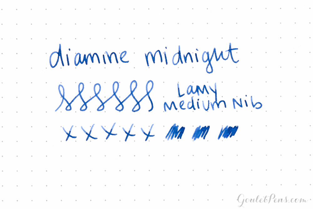 Diamine Midnight - Ink Sample