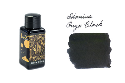 Diamine Onyx Black - 30ml Bottled Ink