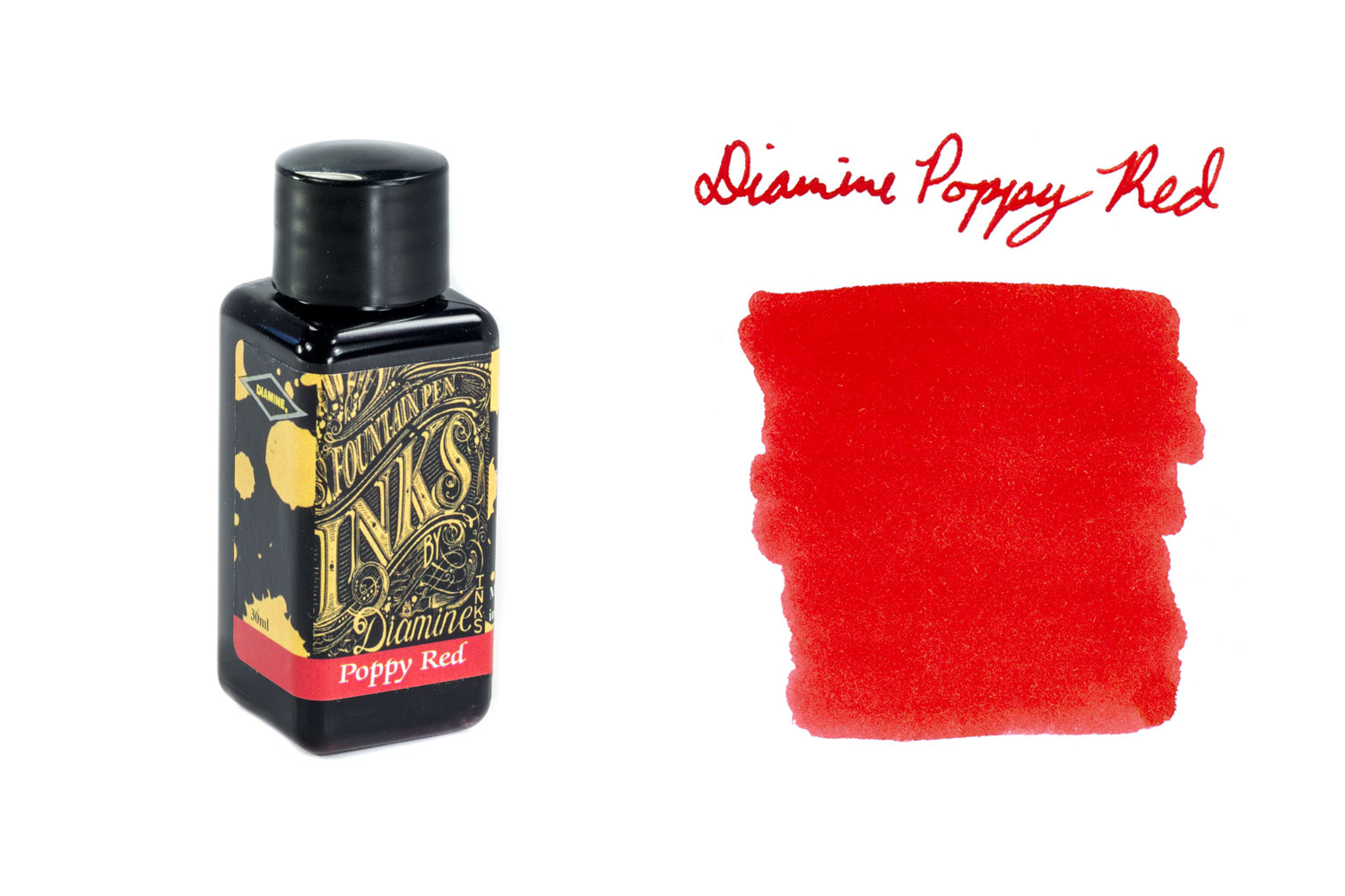 Diamine Poppy Red - 30ml Bottled Ink