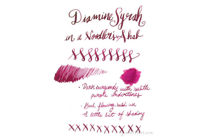 Diamine Syrah - Ink Sample