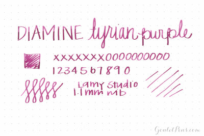 Diamine Tyrian Purple - Ink Sample