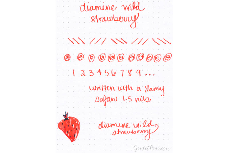 Diamine Wild Strawberry - Ink Sample