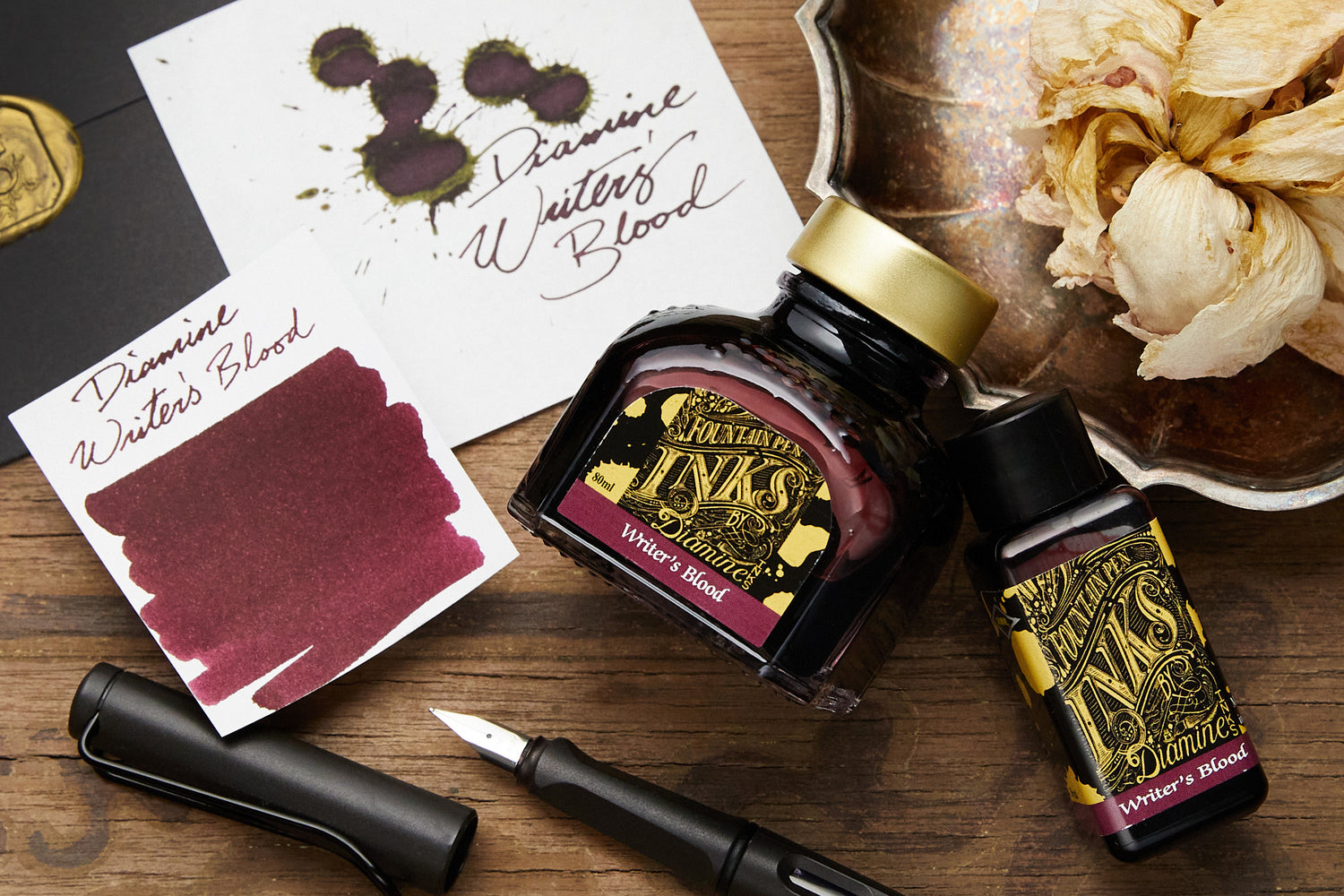 Diamine Writer's Blood - 80ml Bottled Ink